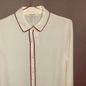 F21 Ivory Woman's Button down shirt
